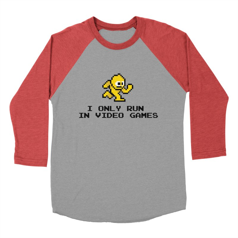 I only run in video games Men's Baseball Triblend Longsleeve T-Shirt by immerzion's t-shirt designs