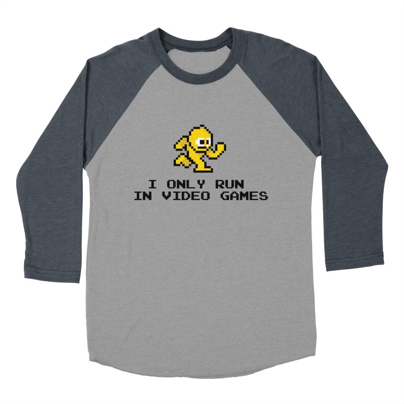 I only run in video games Men's Baseball Triblend T-Shirt by immerzion's t-shirt designs