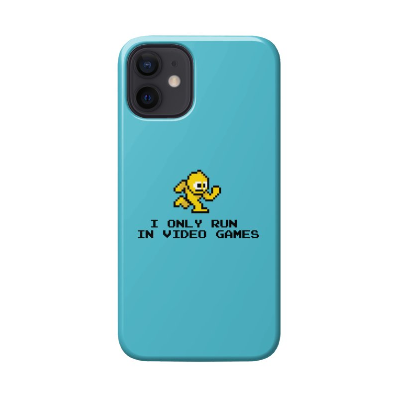 I only run in video games Accessories Phone Case by immerzion's t-shirt designs