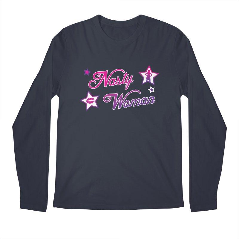 Nasty Woman Men's Longsleeve T-Shirt by immerzion's t-shirt designs