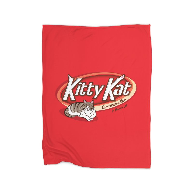 Kitty Kat Home Fleece Blanket Blanket by immerzion's t-shirt designs