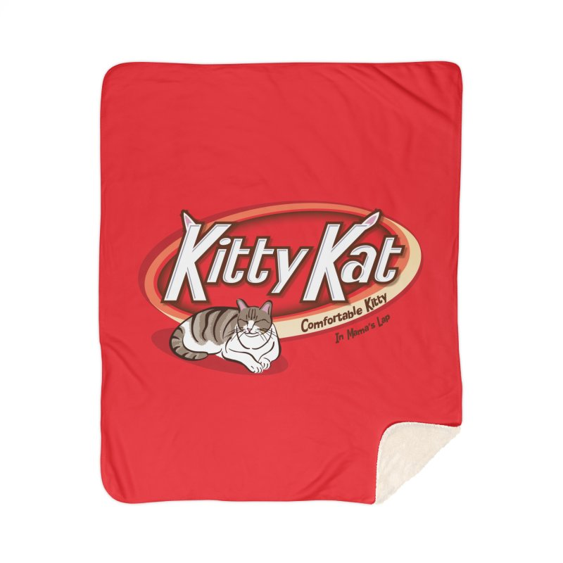 Kitty Kat Home Sherpa Blanket Blanket by immerzion's t-shirt designs
