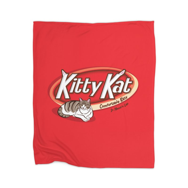 Kitty Kat Home Blanket by immerzion's t-shirt designs