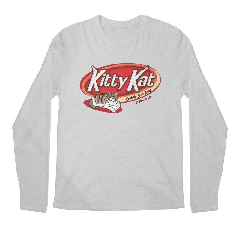Kitty Kat Men's Regular Longsleeve T-Shirt by immerzion's t-shirt designs