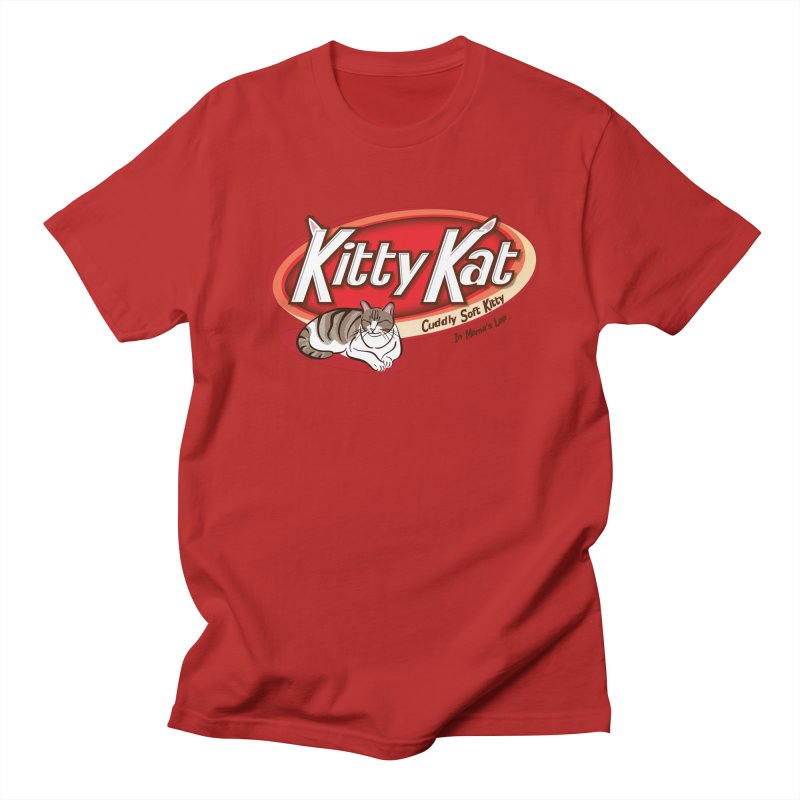 Kitty Kat in Men's T-shirt Red by immerzion's t-shirt designs