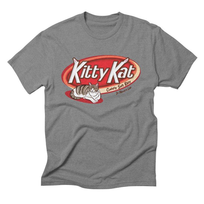 Kitty Kat Men's Triblend T-shirt by immerzion's t-shirt designs