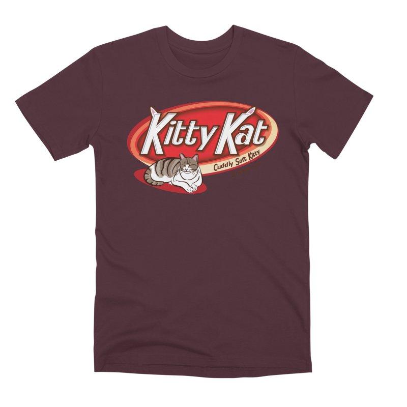 Kitty Kat Men's Premium T-Shirt by immerzion's t-shirt designs
