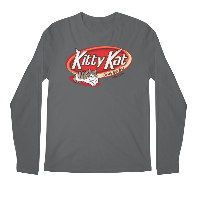 Kitty Kat Men's Regular Longsleeve T-Shirt by immerzion's t-shirt designs