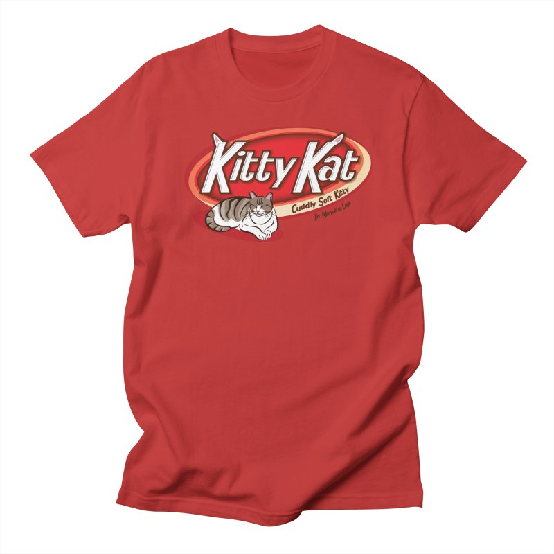 Kitty Kat in Men's Regular T-Shirt Red by immerzion's t-shirt designs