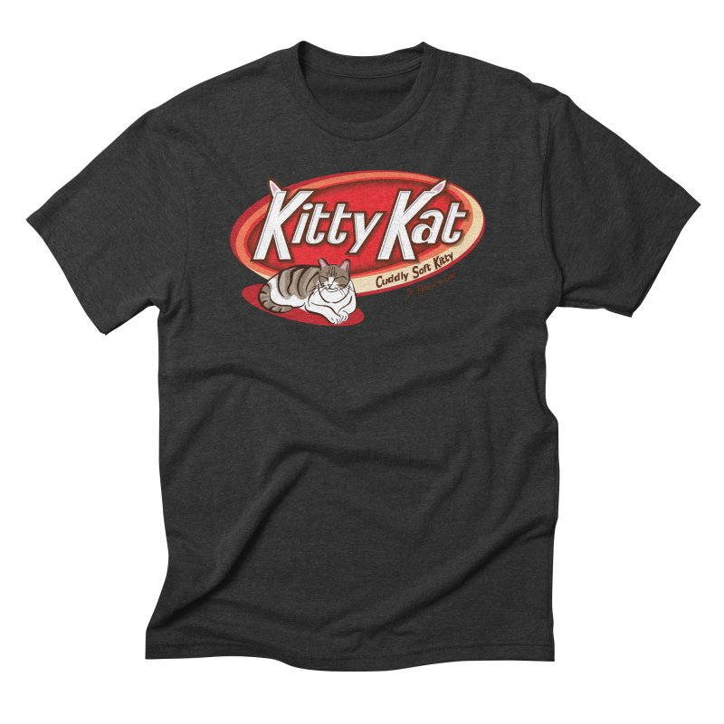 Kitty Kat Men's Triblend T-Shirt by immerzion's t-shirt designs