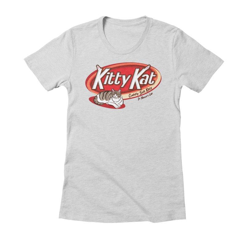 Kitty Kat Women's T-Shirt by immerzion's t-shirt designs