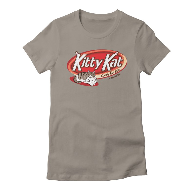 Kitty Kat Women's Fitted T-Shirt by immerzion's t-shirt designs