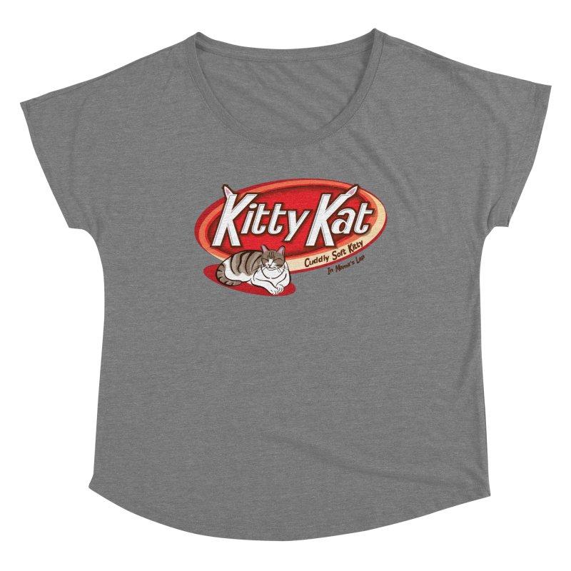 Kitty Kat Women's Scoop Neck by immerzion's t-shirt designs