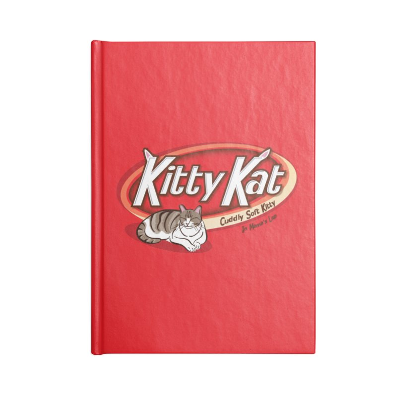 Kitty Kat Accessories Lined Journal Notebook by immerzion's t-shirt designs