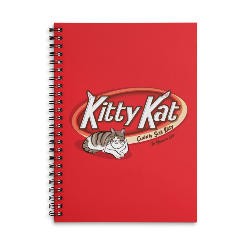 Kitty Kat Accessories Lined Spiral Notebook by immerzion's t-shirt designs