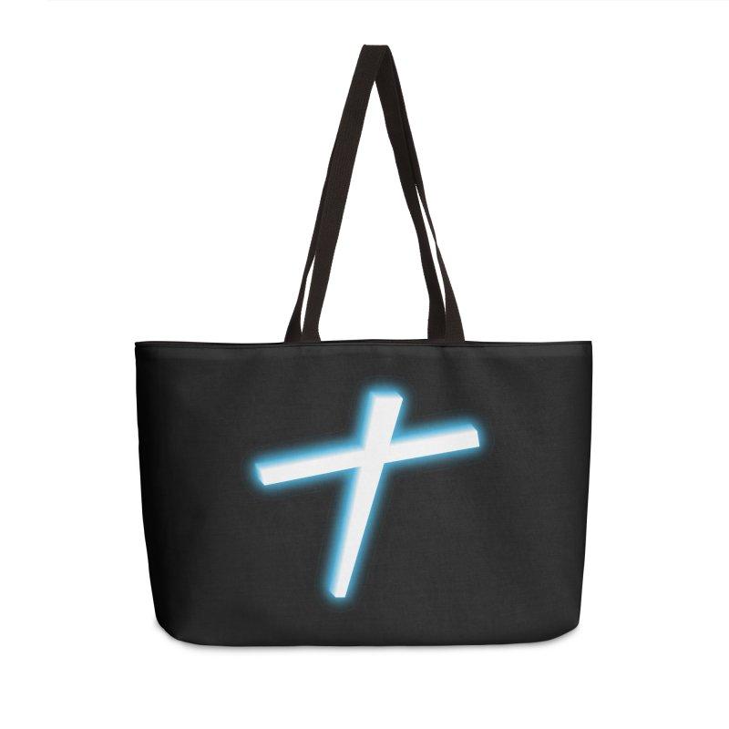 White Cross Accessories Bag by immerzion's t-shirt designs