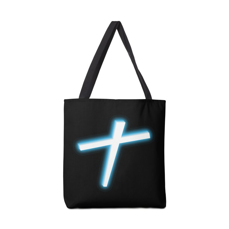 White Cross Accessories Bag by immerzion's t-shirt designs