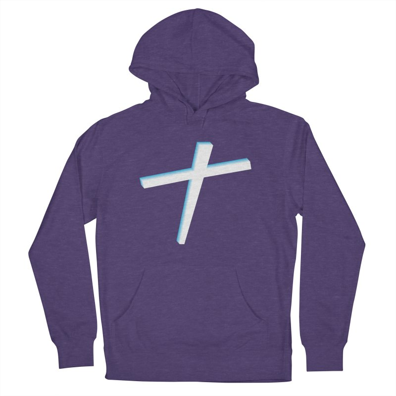 White Cross Women's French Terry Pullover Hoody by immerzion's t-shirt designs
