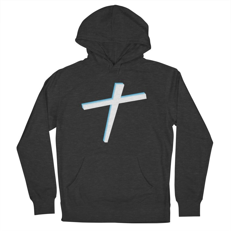 White Cross Men's French Terry Pullover Hoody by immerzion's t-shirt designs