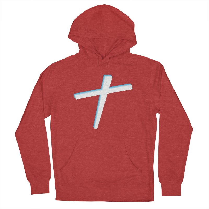 White Cross Men's Pullover Hoody by immerzion's t-shirt designs