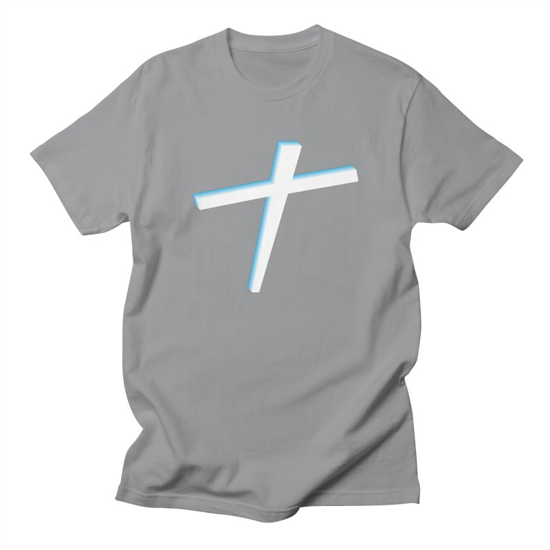 White Cross Men's T-Shirt by immerzion's t-shirt designs