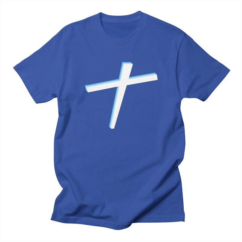 White Cross Men's Regular T-Shirt by immerzion's t-shirt designs