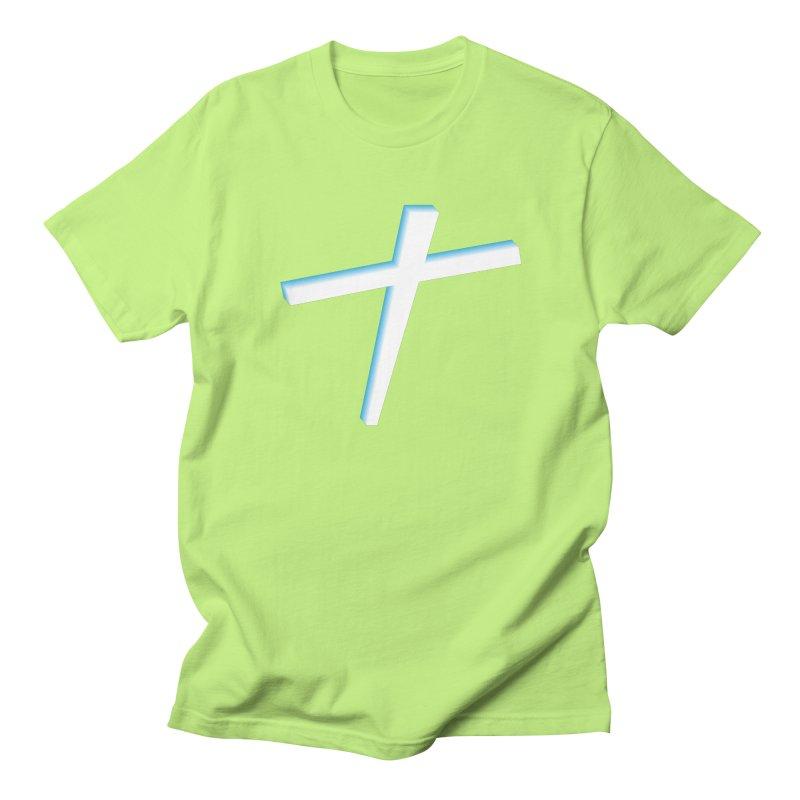 White Cross Men's T-shirt by immerzion's t-shirt designs