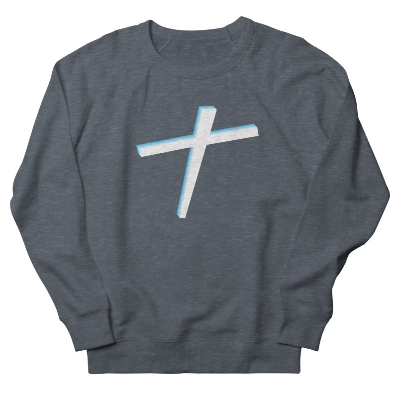 White Cross Women's French Terry Sweatshirt by immerzion's t-shirt designs