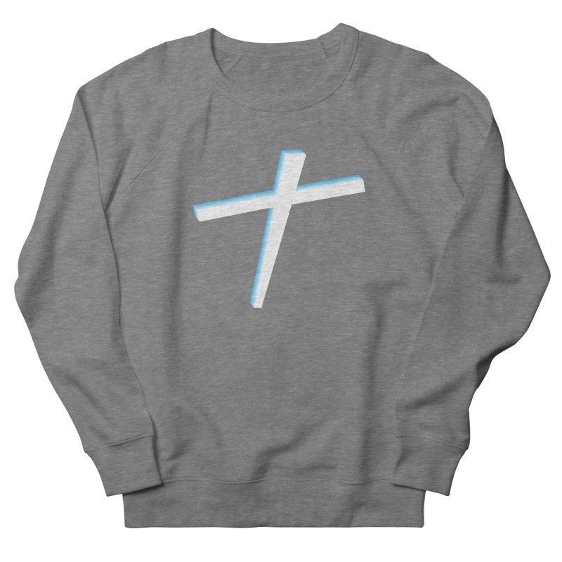 White Cross Women's French Terry Sweatshirt by immerzion's t-shirt designs