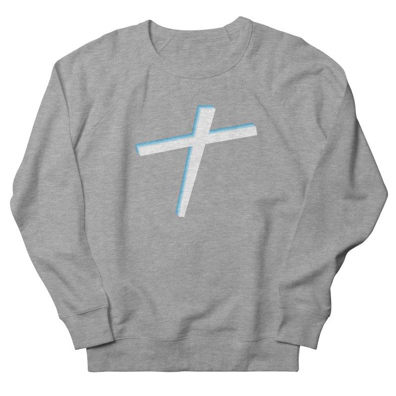 White Cross Men's French Terry Sweatshirt by immerzion's t-shirt designs