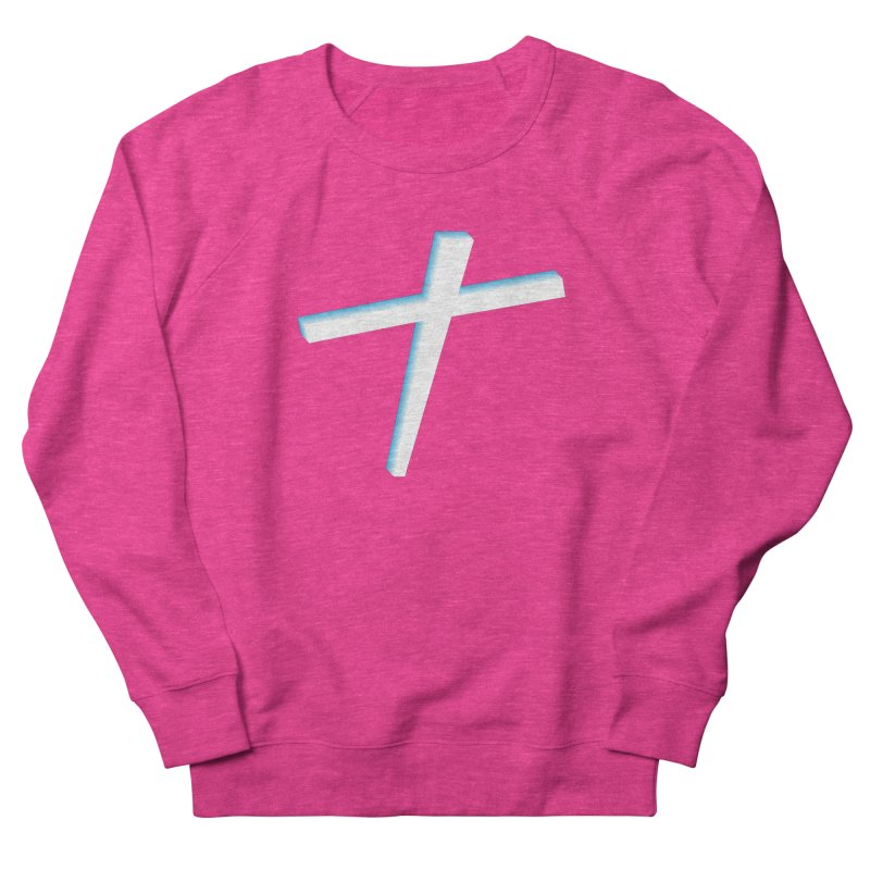 White Cross Men's French Terry Sweatshirt by immerzion's t-shirt designs