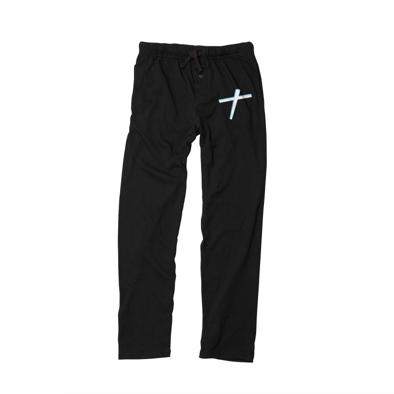 White Cross Men's Lounge Pants by immerzion's t-shirt designs