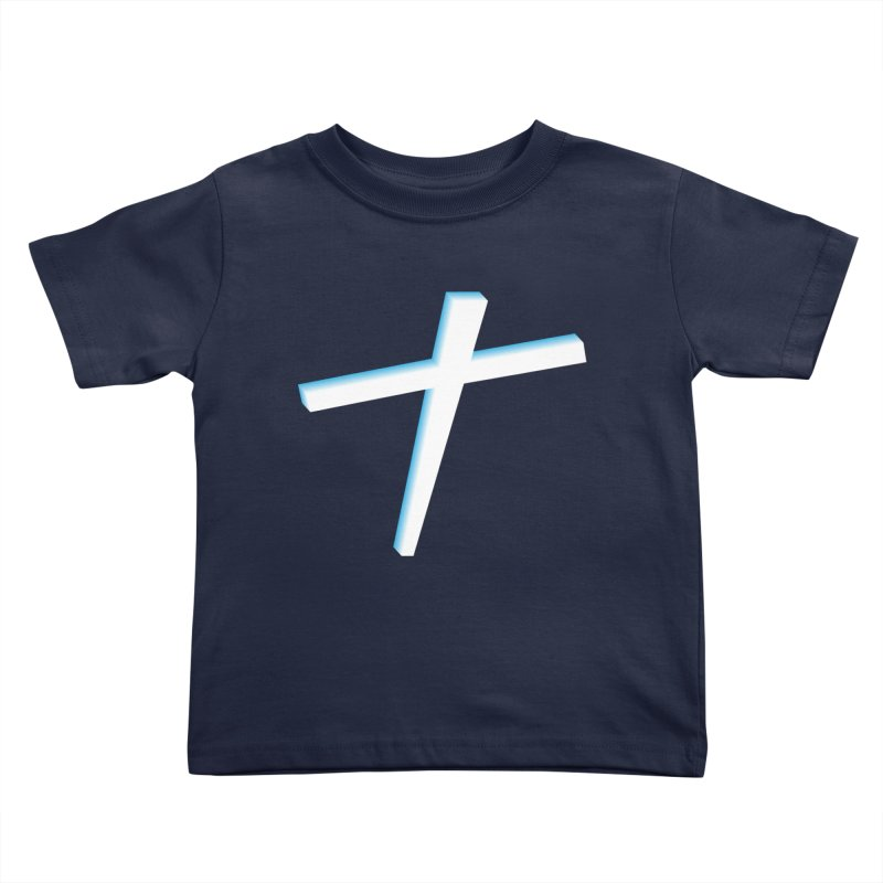 White Cross Kids Toddler T-Shirt by immerzion's t-shirt designs