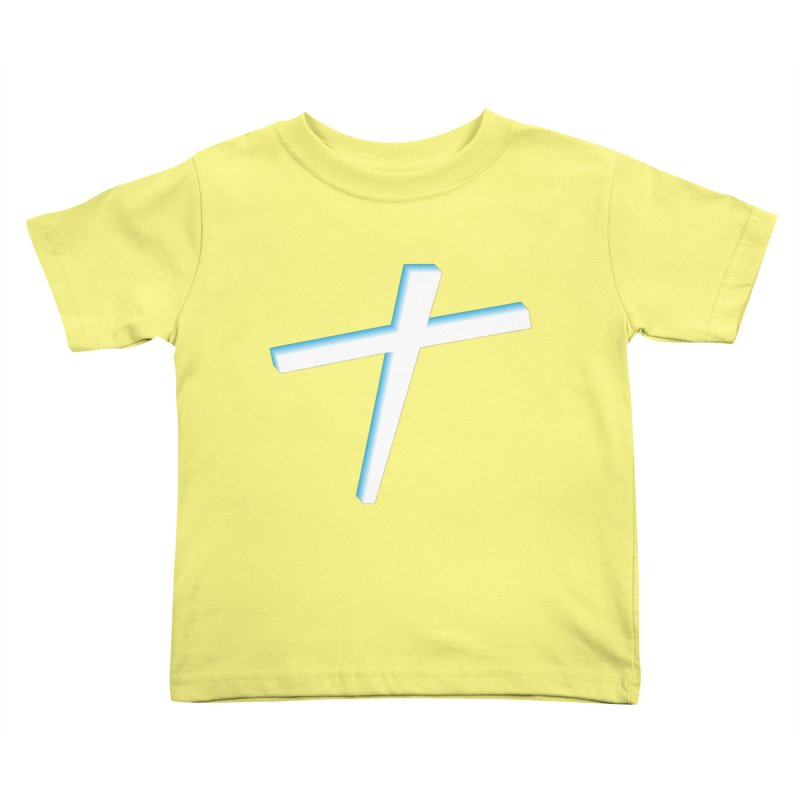 White Cross Kids Toddler T-Shirt by immerzion's t-shirt designs
