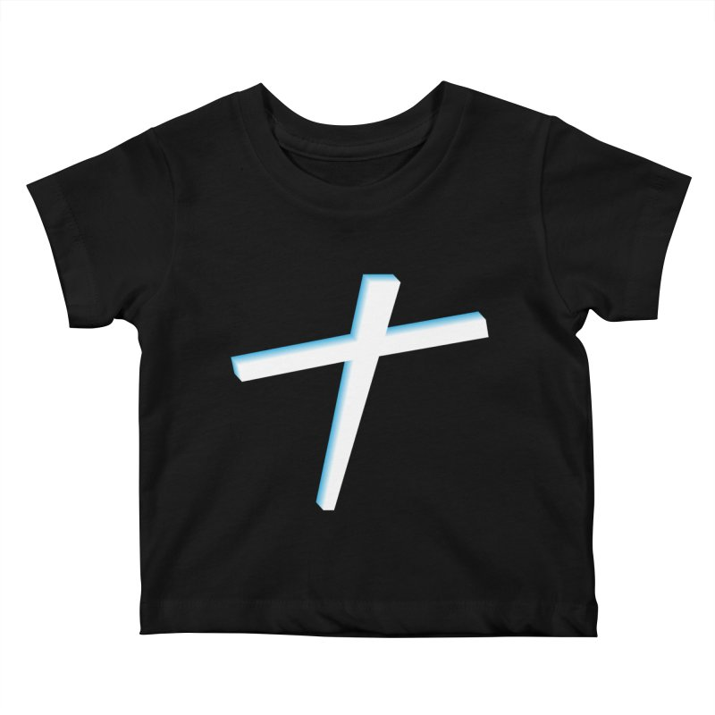 White Cross Kids Baby T-Shirt by immerzion's t-shirt designs