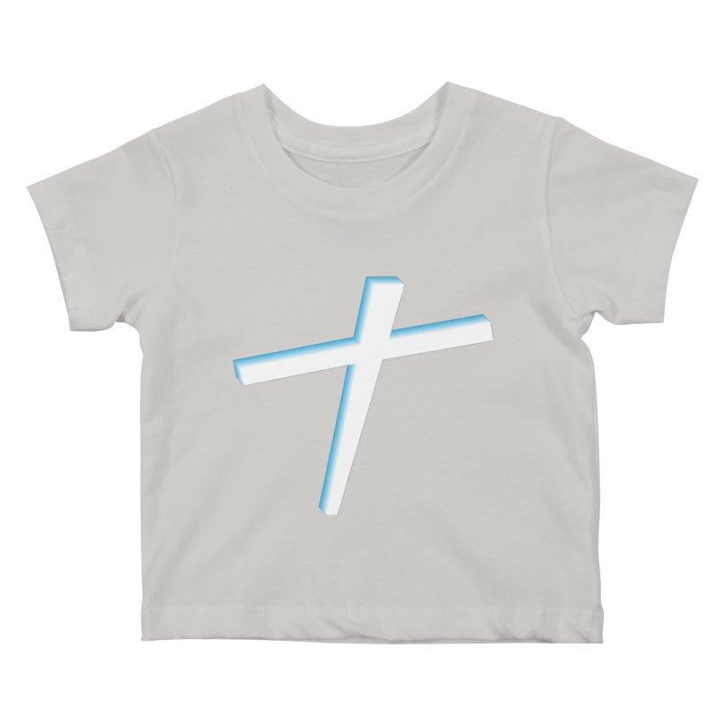 White Cross Kids Baby T-Shirt by immerzion's t-shirt designs