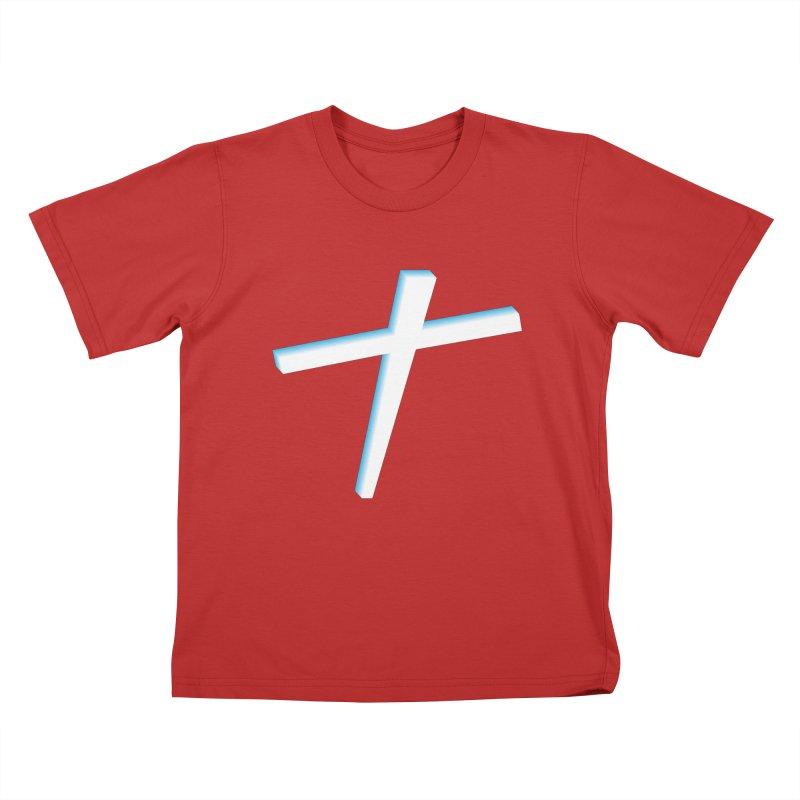 White Cross Kids T-Shirt by immerzion's t-shirt designs