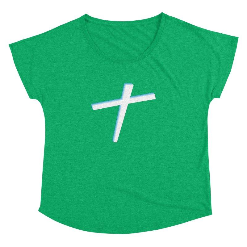 White Cross Women's Dolman by immerzion's t-shirt designs