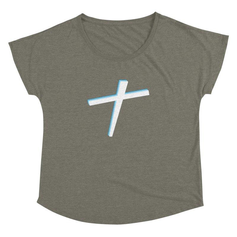White Cross Women's Dolman Scoop Neck by immerzion's t-shirt designs