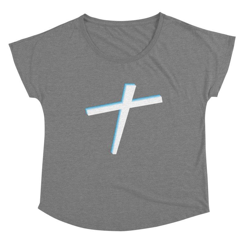 White Cross Women's Scoop Neck by immerzion's t-shirt designs