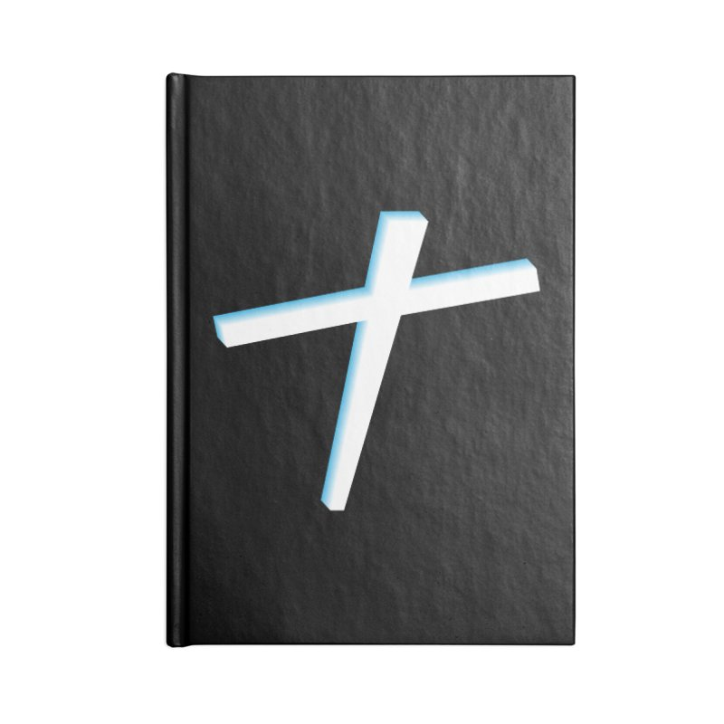 White Cross Accessories Lined Journal Notebook by immerzion's t-shirt designs