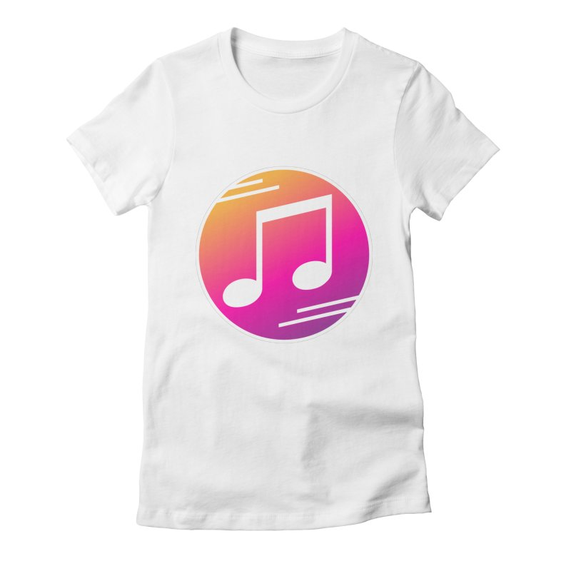 Crowd Hero Logo Women's Fitted T-Shirt by immerzion's t-shirt designs
