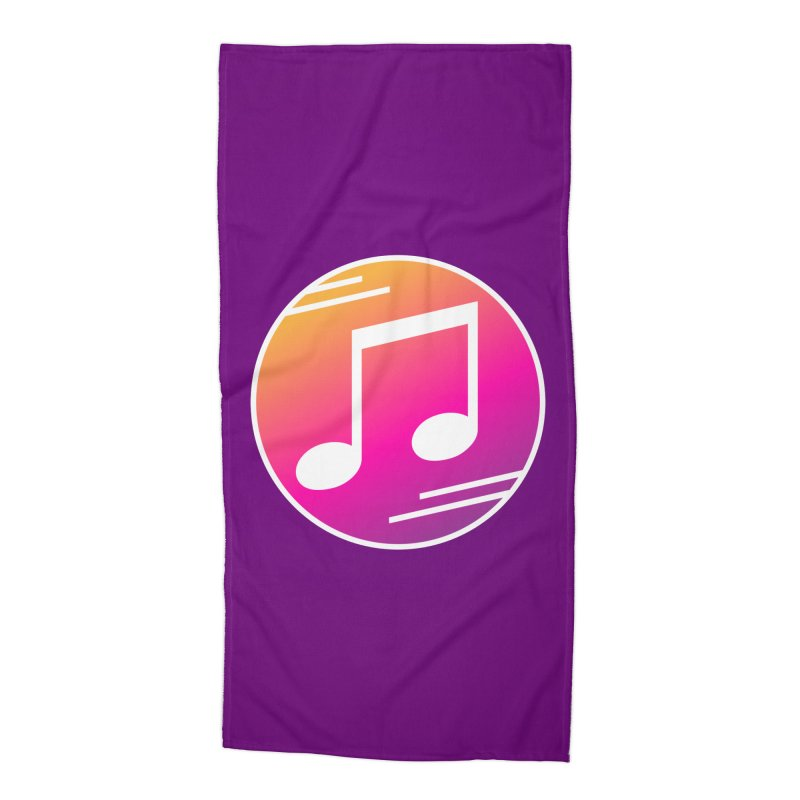 Crowd Hero Logo Accessories Beach Towel by immerzion's t-shirt designs