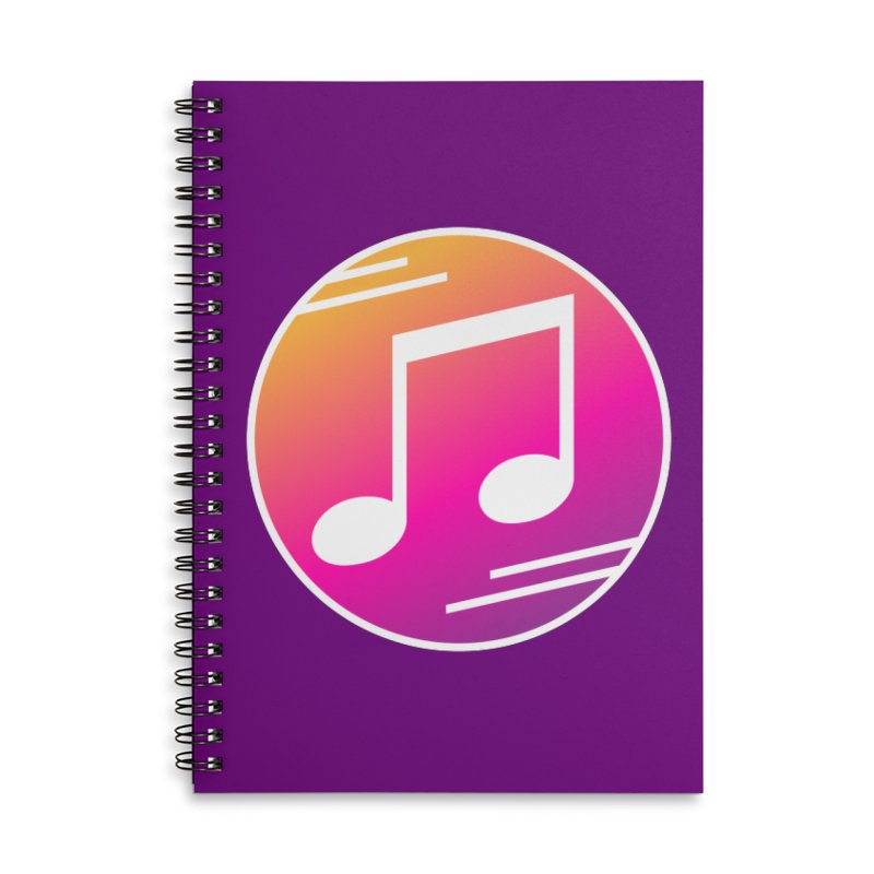Crowd Hero Logo Accessories Lined Spiral Notebook by immerzion's t-shirt designs
