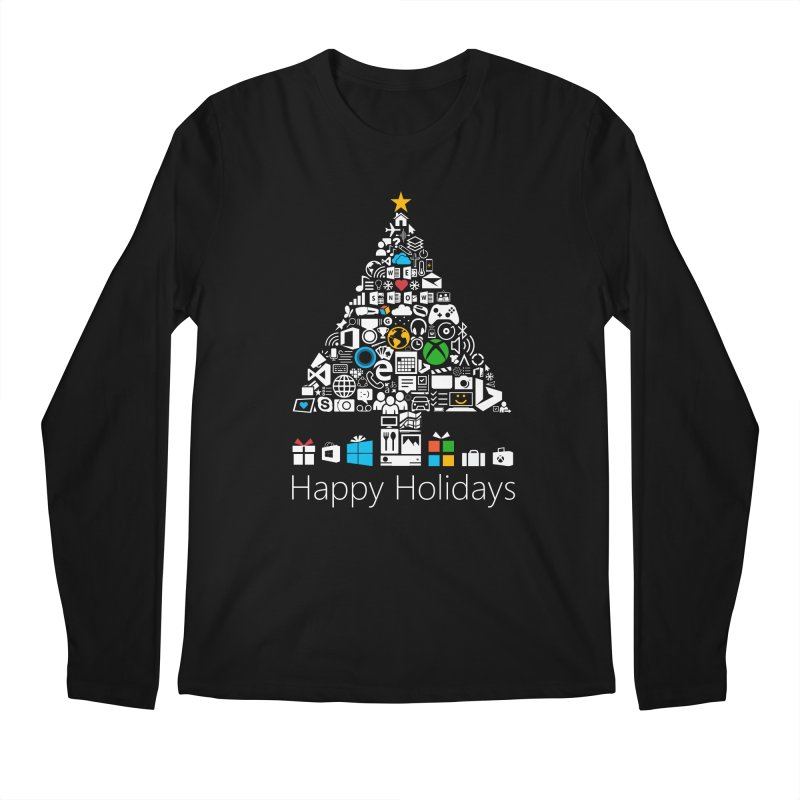 Microsoft Christmas Men's Regular Longsleeve T-Shirt by immerzion's t-shirt designs