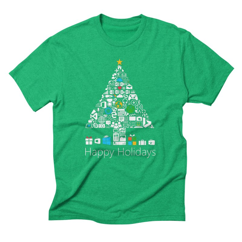 Microsoft Christmas Men's Triblend T-Shirt by immerzion's t-shirt designs