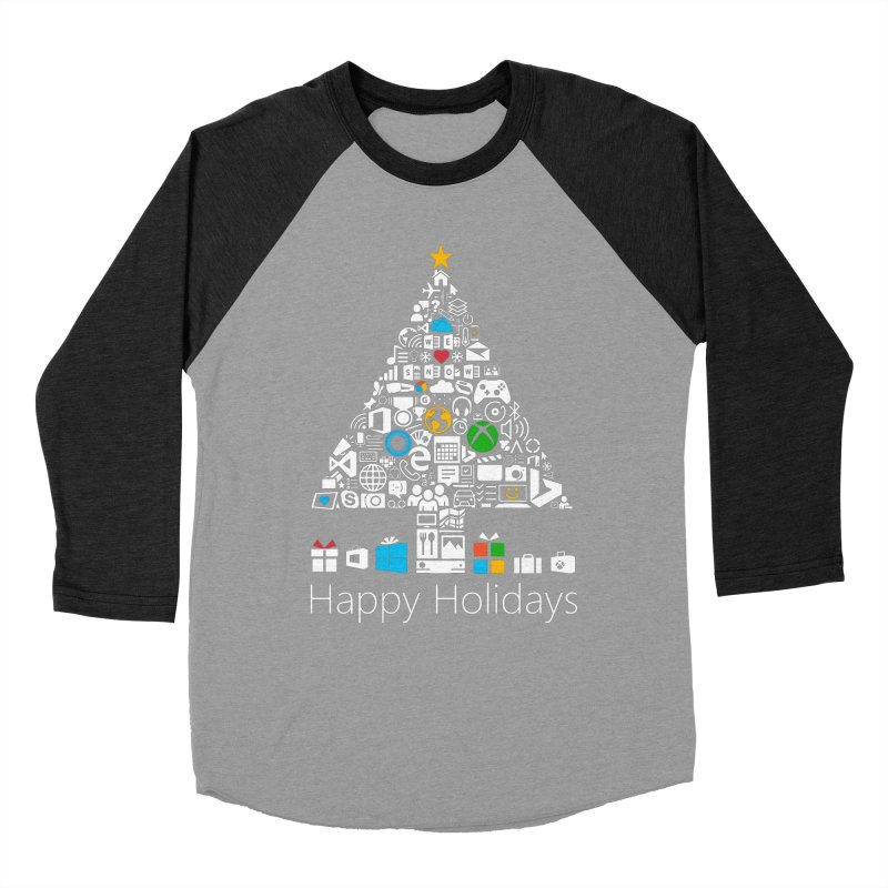 Microsoft Christmas Women's Baseball Triblend Longsleeve T-Shirt by immerzion's t-shirt designs