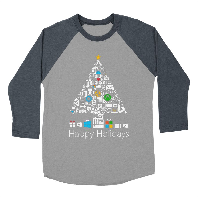 Microsoft Christmas Women's Baseball Triblend T-Shirt by immerzion's t-shirt designs