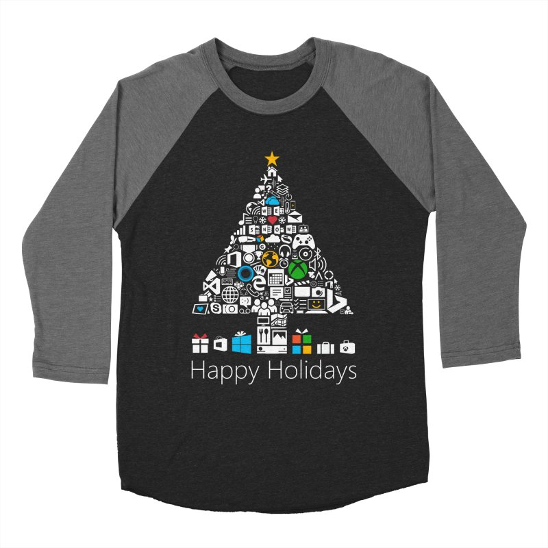 Microsoft Christmas Men's Baseball Triblend Longsleeve T-Shirt by immerzion's t-shirt designs