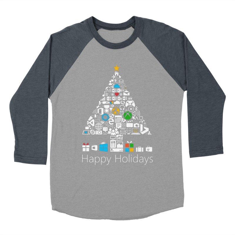 Microsoft Christmas Men's Baseball Triblend T-Shirt by immerzion's t-shirt designs